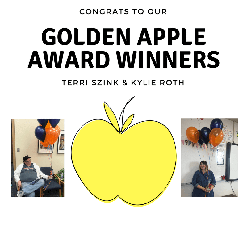 Congrats to our Gold Apple Award Winners!